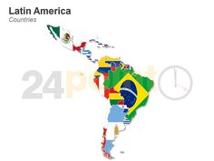 Powerpoint map of south asian countries editable powerpoint maps latin america map http24point0ppt shoplatin america countries map ppt toneelgroepblik Image collections