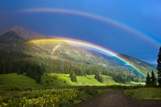 the beautiful Double Rainbow in the sky