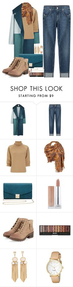 """Untitled #1163"" by anarita11 ❤ liked on Polyvore featuring Roksanda, 7 For All Mankind, J.W. Anderson, Black Rivet, M&Co and Kate Spade"