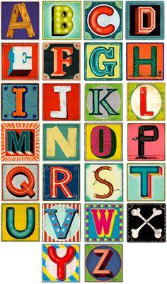 Fred & Friends blocks, letters / CHRISTIAN NORTHEAST