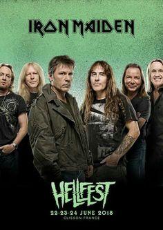 The mighty Iron Maiden will headline Hellfest 2018
