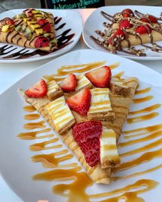 """CREPESnSHAKES.LA on Instagram: """"🧐Here's a great idea! Get yourself down here so you can have all three of these CREPES 😋😋😋(Located inside Tutti Frutti bell gardens and…"""" Food Pics, Food Pictures, Waffles, Pancakes, Bell Gardens, Nutella Crepes, Tutti Frutti, Dessert Recipes, Desserts"""