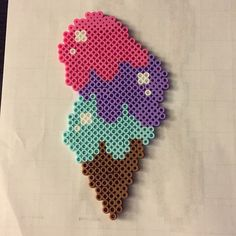 Ice cream cone perler beads by kainimura