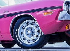 1970 Dodge Challenger in panther pink
