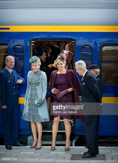 Queen Mathilde and Queen Maxima visit the new Utrecht Central station and travel by Dutch Royal Train on Nov. 30, 2016.