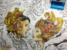 WIP: Let's Color Love by @kimmazyck