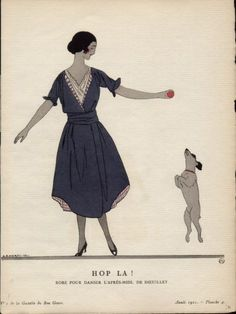 From GAZETTE DU BON TON POCHOIR , The very famous Art Deco periodical . by ANDRE EDOUARD MARTY
