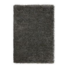 Cuddly grey rug from IKEA.