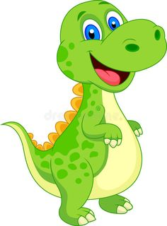 Photo about Illustration of Cute dinosaur cartoon. Illustration of dragon, animal, jurassic - 33230511