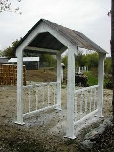 awesome ... old barn tin for room, barn lumber and spindles .... how great does this look ....