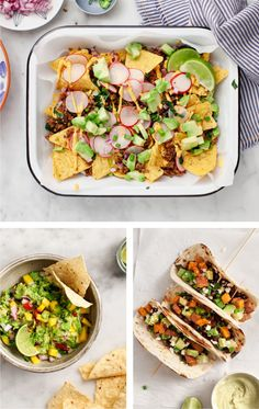 Healthier Game Day Recipes - our favorite vegetarian superbowl snacks and meals including Healthy Loaded Vegan Nachos, Super Stuffed Sweet Potatoes and more!