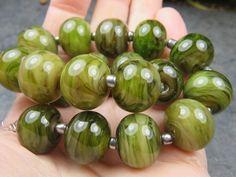 Into the Fire Lampwork Art Beads ~Swamp Thang~ Artist handmade glass beads OOAK #Lampwork