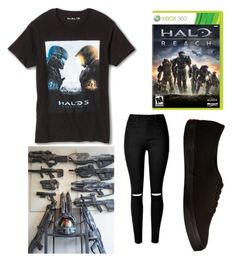 """""""Halo"""" by love-me-you-fool on Polyvore featuring Vans, women's clothing, women, female, woman, misses and juniors"""