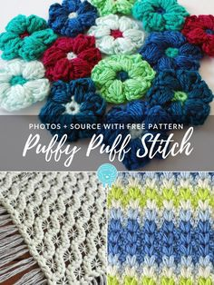 Add a lovely puff stitch project to your library this season! If you really want to learn crochet techniques, this one is one of the prettiest and most Crochet Blanket Edging, Crochet Shawl Free, Learn Crochet, Crochet Motif, Crochet Stitches, Knitting Patterns, Crochet Patterns, Crochet Tutorials, Crochet Ideas