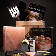 Man Crates - AWESOME gift ideas for the men in my life! The Everest Grill Crate is bringing the sizzle to the ultimate gourmet block party. Salt Block Grilling, Salt Block Cooking, My Funny Valentine, Valentines, Bbq Gifts, Grilling Gifts, Grilling Ideas, Creative Gifts, Cool Gifts
