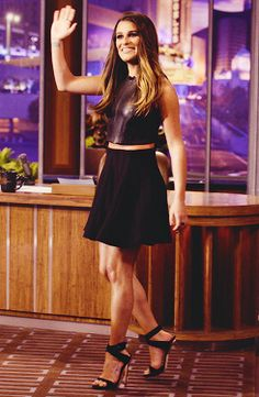 Lea Michele on Jay Leno.