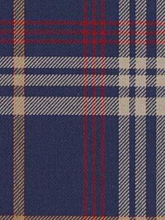 red/blue plaid fabric