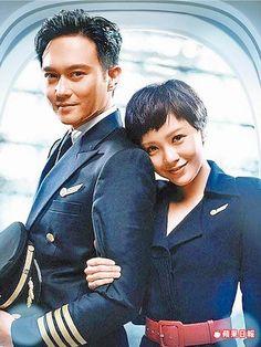 郭采潔(右)和張智霖主演的《衝上雲霄》是香港賀歲檔華語片冠軍。