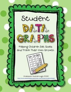 *UPDATED 2/11/15:  This set now includes blackline copies of the ELA graphs in this packet and a blackline student notebook cover.When students, even young students, have the opportunity to reflect on their learning, be an active participant in graphing their own data, and set goals with timelines, it can be very powerful and result in increased academic gains.