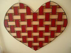 Stained Glass Panel Valentine Day Window Suncather by HelioGlass, $120.00