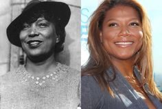 Do they look a like or what? Queen Latifah and Author Zora Neale Hurston Singer and actress Queen Latifah could easily be mistaken for author Zora Neale Hurston. If they ever make a biopic of the author, we're sure Queen Latifah will be getting a call. Celebrity Twins, Celebrity Look Alike, Celebrity Photos, Celebrity Doppelganger, Queen Latifah, Black Celebrities, Famous Celebrities, Celebs, Zora Neale Hurston