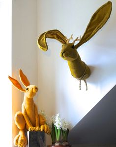 vegetarian taxidermy, hunting trophies