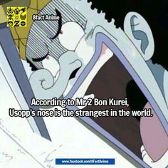 Damn and that's coming from one of the weirdest characters in one piece xD