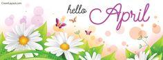 Hello April Facebook Cover coverlayout.com