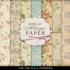 New Freebies Kit of Antique Paper.:Far Far Hill - Free database of digital illustrations and papers