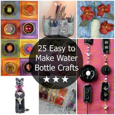 25 Easy to Make Water Bottle Crafts - Adorable DIY crafts made out of recycled water bottles and recycled pop bottles.