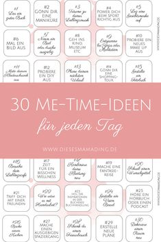 30 me-time ideas for every day (including freebie) - thismamad .- 30 me-time ideas for every day (including freebie) – thismamading Me Time, No Time For Me, Positive Quotes For Life, Belly Fat Workout, Psychology Facts, Abnormal Psychology, Health Challenge, Self Care Routine, Work Life Balance