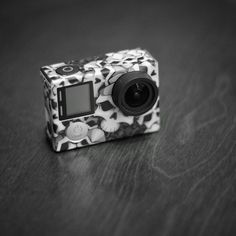 Skinned my #gopro today. I wanted to hide all the damage I did in the past year. Getting it ready for class. #snapseed #goprohero4 #monochrome #fujifilm #minolta #manualfocus