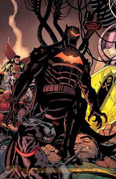 batman in hellbat armor faces off with darkseid Joker Batman, Batman Armor, Batman Stuff, Batman Vs Darkseid, Superman, Deathstroke, Batman Arkham, Aquaman, Marvel Dc