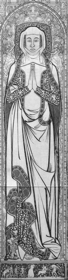 Margaret de Walsokene Dating: 1349 Location: St Margaret's Church, Kings Lynn, Norfolk, England Gender: F Costume: Civilian