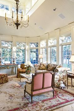 Love the natural light in this living room, and look, you can see windows on the 2nd floor too.