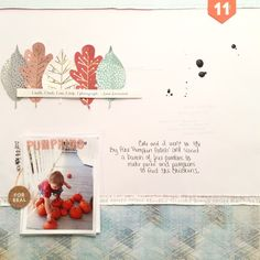 #papercrafting #scrapbook #layout: SCSKETCH Pumpkins by andreahoneyfire at @studio_calico