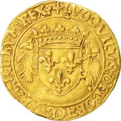 A medieval French gold Ecu d'or, struck in Lyon during the reign of Louis XII, circa 1498 to 1515 Lyon, Louis Xii, French Coins, Old Coins, France, T Rex, Medieval, Personalized Items, Antiques