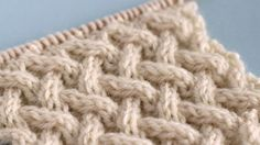 How to Knit the Lattice Cable Stitch Pattern with free knitting pattern and video tutorial by Studio Knit #studioknit