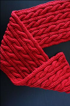 a scarf with REVERSIBLE CABLES! Love it! Pattern here: http://www.cometosilver.com/patterns/palindrome.htm