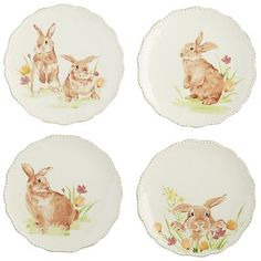 What better way to create a spring-inspired place setting than with a bunny plate on top? Our set of ceramic salad plates is perfect for Easter dinner and springtime entertaining. They also come gift-boxed, perfect for giving to friends and family.