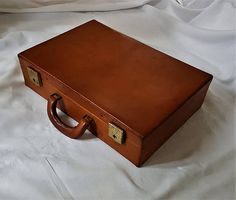 1970s Brown Pigskin Leather Briefcase #vintage #briefcase #leather