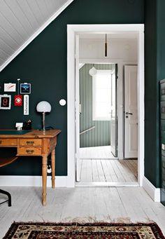 Lundin Fastighetsbyrå - Kålltorp - i toppskick Norwegian House, Study Room Decor, Scandinavian Interior Design, Fashion Room, Wall Colors, Colorful Interiors, Color Mixing, Sweet Home, New Homes