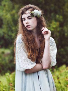 Copricapo da sposa, accessori sposa Woodland, corona di fiori corona di capelli da sposa