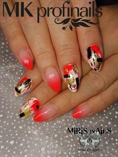 Lovenails#neoncolors# lovenails#blacknails#