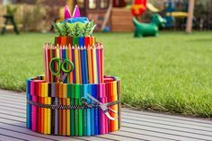Eine Stifte-Torte zur Einschulung! =)