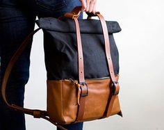 The HotShot Weekender Bag Backpack in Black Leather & by AwlSnap
