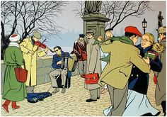 Jonas Fink by Vittorio Giardino. Character Concept, Character Design, King Painting, Dance Paintings, Ligne Claire, Art Et Illustration, Comic Artist, Cartoon Drawings, Illustrations Posters