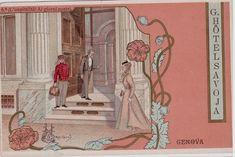 # GENOVA: GRAND HOTEL SAVOIA- CART. LIBERTY CHE SI RIFA' ALLE SERIE LIEBIG..(2)