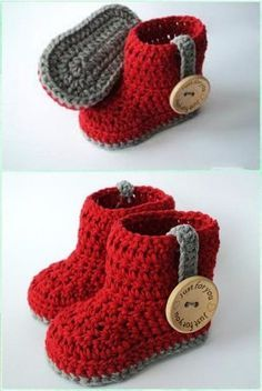 Crochet Ankle High Baby Booties Free Patterns Tutorials - # Check more at schuh. Crochet Ankle High Baby Booties Free Patterns Tutorials - # Check more at schuhe. Crochet Baby Boots, Booties Crochet, Crochet Baby Clothes, Crochet Slippers, Baby Slippers, Crotchet Baby Shoes, Crochet Baby Outfits, Crochet Baby Booties Tutorial, Bedroom Slippers