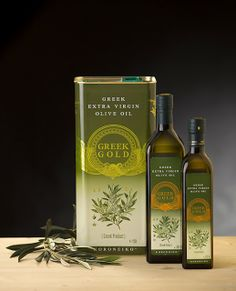 Greek Gold - Extra Virgin Olive Oil on Packaging of the World - Creative Package Design Gallery